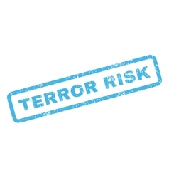 Terror risk rubber stamp vector