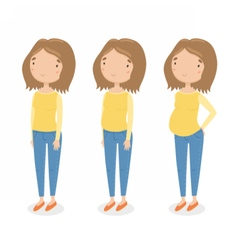 Three different stages of pregnancy vector image vector image