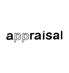 appraisal hand drawn lettering vector image vector image