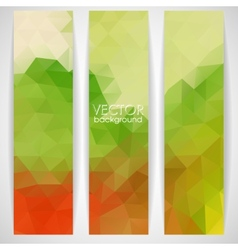 Colorful Abstract Background With Triangles vector image vector image