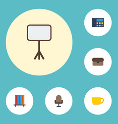 flat icons armchair phone suitcase and other vector image vector image