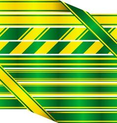 Green and yellow ribbons vector image vector image