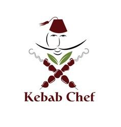 kebab chef vector image vector image