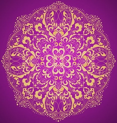 ornamental round lace pattern vector image