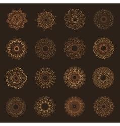Set of oriental mandalas vector image vector image