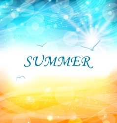 Summer Holiday Background Glowing Wallpaper vector image