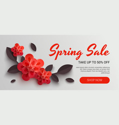 web wanner with red paper vector image vector image
