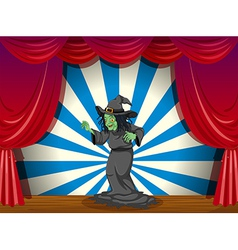 A scary old witch at the stage vector image