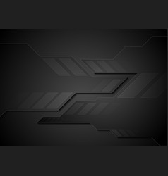 abstract black technology background vector image