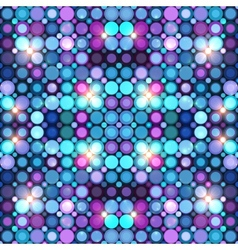 Abstract blue disco lights background vector image