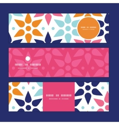 Abstract colorful stars horizontal banners vector