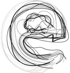 Abstract doodle letter e vector