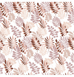 Abstract tropical leaves seamless pattern in vector