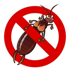 anti earwig sign vector image