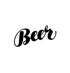 Beer handmade lettering calligraphy vector image