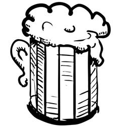 Beer in mug vector image