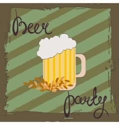 beer party retro beer free label vector image