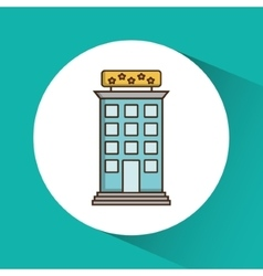 Building hotel service design vector