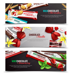 candy packaging realistic banners vector image