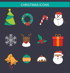 christmas icon sets vector image
