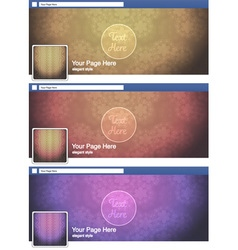 classic elegant face book page cover banner and vector image