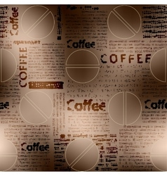 Coffee newspaper pattern vector