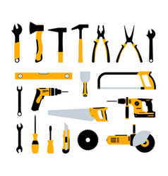 construction tools hammer repair carpentry vector image