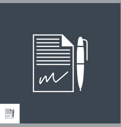 Contract related glyph icon vector