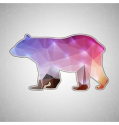 Creative concept bear icon isolated on vector