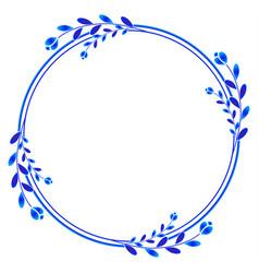 cute floral wreath vector image