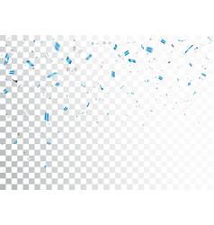 Falling blue confetti celebration design vector