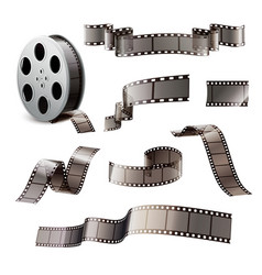 Film reels realistic set vector