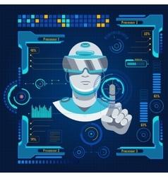 Futuristic user interface concept vector