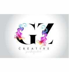 Gz vibrant creative leter logo design with vector