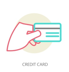 Hand holding credit card vector image