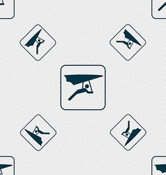 Hang-gliding sign Seamless pattern with geometric vector