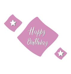 Happy birthday text with purple decorative vector