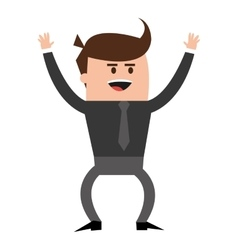 happy businessman icon vector image
