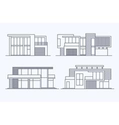 Houses linear 8 vector
