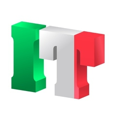 Internet top-level domain of italy vector