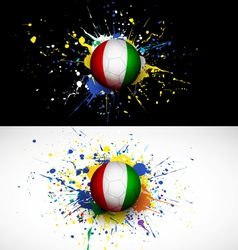 Ivory coast flag with soccer ball dash on colorful vector