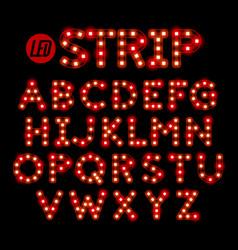 Led ribbon strip light alphabet vector