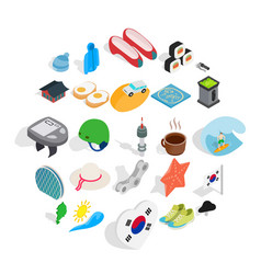 life position icons set isometric style vector image