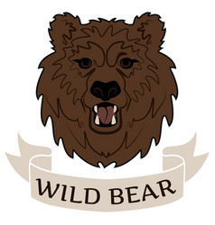 Logo wild bear vector