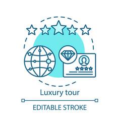Luxury tour concept icon vector