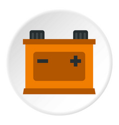 Machine battery icon circle vector