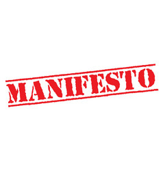 Manifesto typographic stamp vector