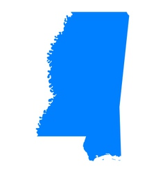 Map of Mississippi vector