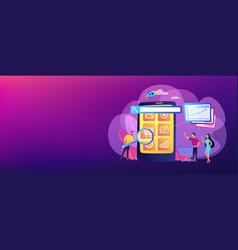 Mobile media optimization concept banner header vector