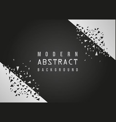 modern abstract geometric black background vector image